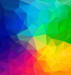 Color full rainbow spectrum polygon triangular vector