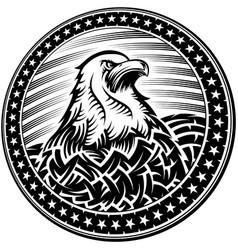 american bald eagle usa natioal symbol vector image vector image