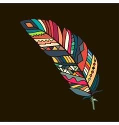 Art feather for your design vector