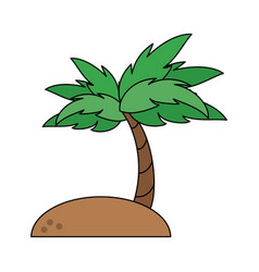 beach and palm vector image vector image
