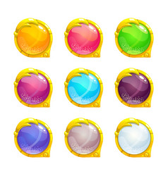 beautiful colorful round buttons vector image vector image