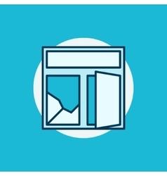 Broken window colorful icon vector