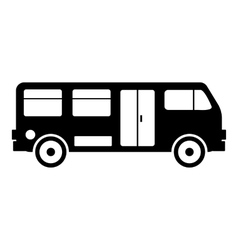 Bus icon simple style vector