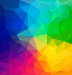 Color full rainbow spectrum polygon triangular vector
