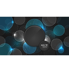 Dark abstract wallpaper with circle pattern and vector