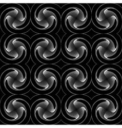 Design seamless monochrome twirl background vector