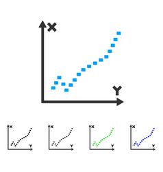 Dotted function plot flat icon vector