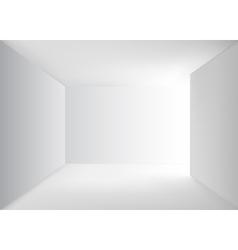 Empty corridor vector image