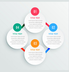 Four steps infographic template vector