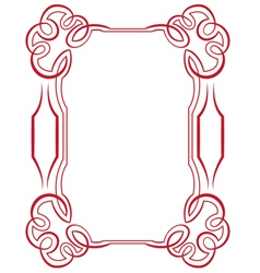 Frame with swirls on a white background vector