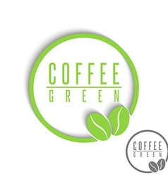 Green coffee logo mockup design element cafe vector image vector image