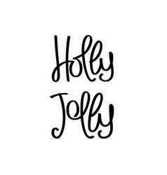 Holly jolly vector