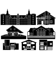 house silhouettes vector image vector image