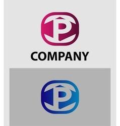 Letter p logo symbol icon vector