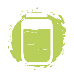 Mason jar isolated icon vector