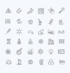 modern thin line icons set of biochemistry vector image