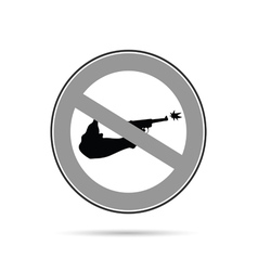 no gun sign blac and white vector image vector image