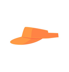 Orange golf visor sport equipment cartoon vector