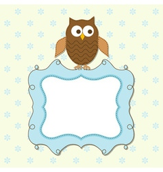 owl frame vector image vector image