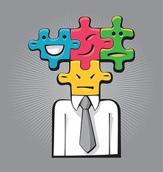 Puzzle Faces vector image