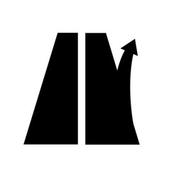 Road sign exit from the motorway right arrow vector