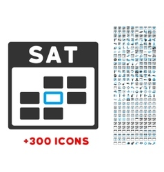Saturday Flat Icon vector image