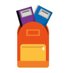 School bag book notebook vector
