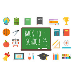 School supplies stationery equipment vector
