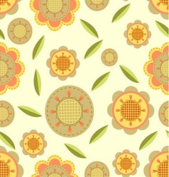Seamless flower and petals background pattern in vector image vector image
