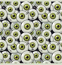 seamless pattern eyeball vector image