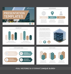Set of blue and brown elements for multipurpose vector