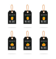 set of halloween sale style vector image