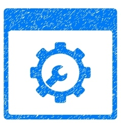 Setup tools calendar page grainy texture icon vector