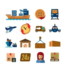 shipping and cargo vector image