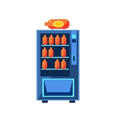Soft drink vending machine design vector