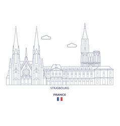 Strasbourg city skyline vector