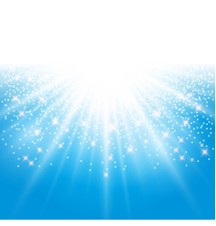 sunlight effect sparkle on blue background with vector image vector image
