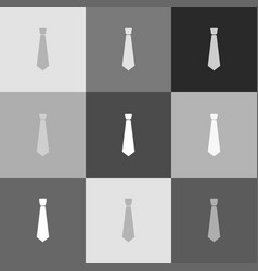 tie sign grayscale version vector image vector image