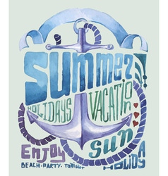 Watercolor poster typography background vector