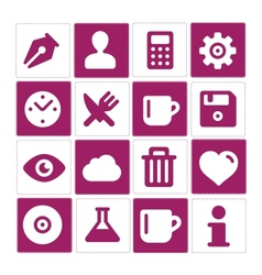 Web and simple pictograms set isolated vector image