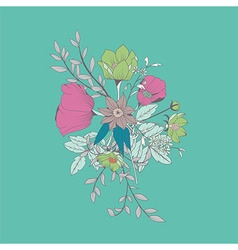 Flower bouquet botanical and floral decoration vector