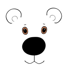 bear cute funny cartoon head vector image