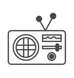 Radio advertisement isolated icon vector