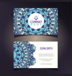 Mandala business card vector
