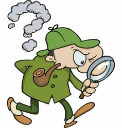 Sherlock holmes searching for clues vector