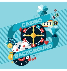 Casino gambling background vector