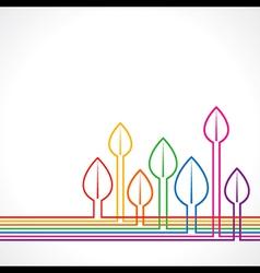 Colorful leaf background vector image