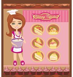 Retro kitchen Girl vector image