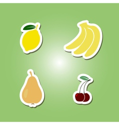 Set of color icons with fruits for your design vector