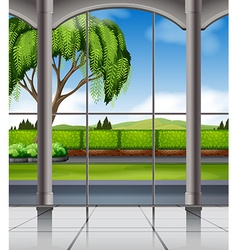 Nature view from the window vector